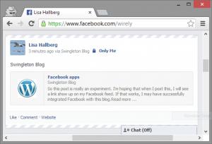 Successful Facebook post.